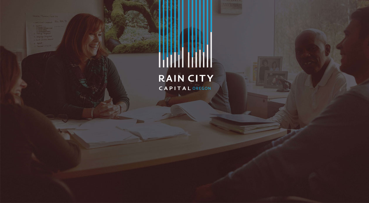 Rain City Capital of Oregon Logo